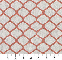 Load image into Gallery viewer, Essentials Heavy Duty Upholstery Trellis Fabric / Coral White