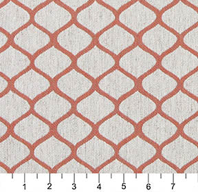 Essentials Heavy Duty Upholstery Trellis Fabric / Coral White