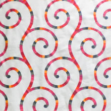 Load image into Gallery viewer, Tupinamba Swirl Embroidered Cotton Drapery Fabric