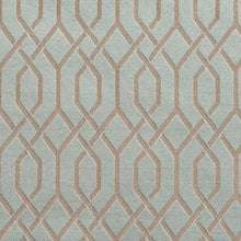 Load image into Gallery viewer, Essentials Heavy Duty Upholstery Drapery Fabric Turquoise / Seamist Lattice