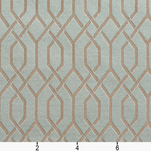 Essentials Heavy Duty Upholstery Drapery Fabric Turquoise / Seamist Lattice