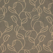 Load image into Gallery viewer, Embroidered Botanical Leaves Drapery Fabric Beige Cream Brown Green / RMIL13