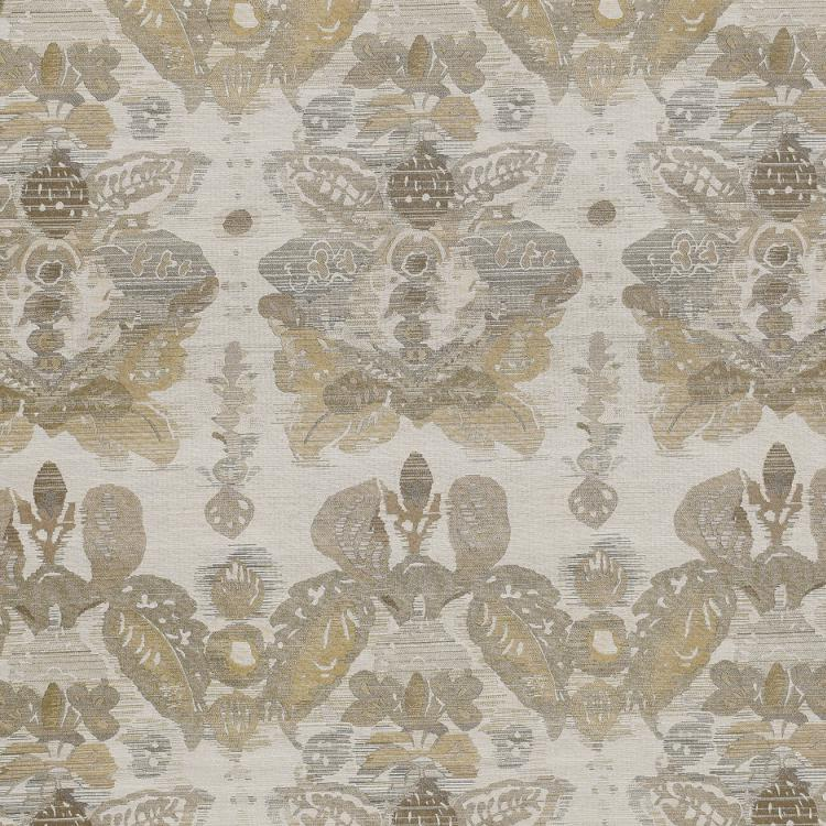Waterscape Beige Taupe Damask Modern Upholstery Fabric