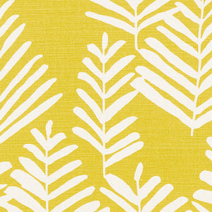 SCHUMACHER FERN SILHOUETTE FABRIC / YELLOW