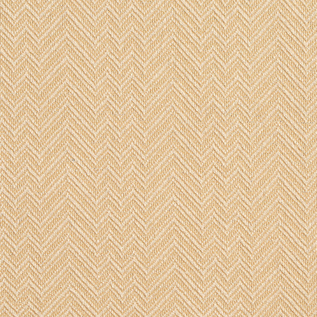 Essentials Crypton Yellow Ivory Chevron Geometric Upholstery Fabric / Straw