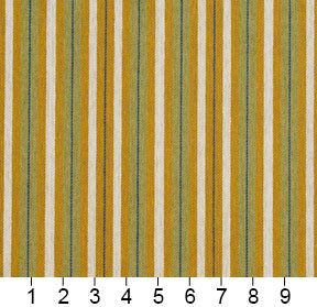 Essentials Yellow Lime White Blue Upholstery Fabric / Spring Stripe