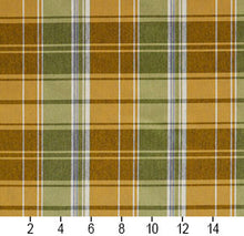 Load image into Gallery viewer, Essentials Yellow Lime White Checkered Upholstery Fabric / Spring Plaid