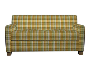 Essentials Yellow Lime White Checkered Upholstery Fabric / Spring Plaid