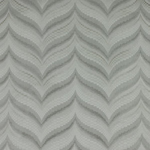 Zenith Silver Gray Geometric Textured Chevron Checkered Cotton Linen Drapery Fabric
