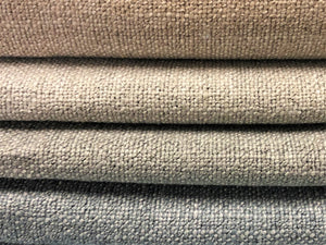 Water & Stain Resistant Heavy Duty Greige Gray Neutral Steel Blue Mid Century Modern Heathered Tweed Upholstery Drapery Fabric FB-ATX