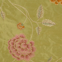 Load image into Gallery viewer, Embroidered Silk Floral Drapery Fabric / Summer / U222