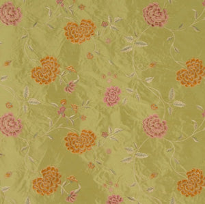 Embroidered Silk Floral Drapery Fabric / Summer / U222
