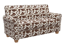 Load image into Gallery viewer, Essentials Performance Stain Resistant Brown Cow Microfiber Upholstery Fabric / Palomino