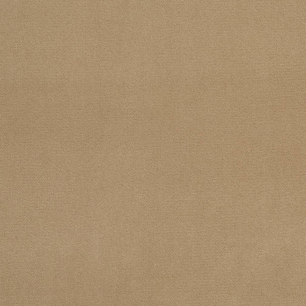 Essentials Beige Crypton Performance Abrasion Stain Fade Resistant Velvet Upholstery Fabric / Camel