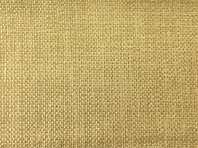 Load image into Gallery viewer, Mid Century Modern MCM Faux Linen Glazed Textured Sunshine Pastel Yellow Butter Gold Maize Beige Cashew Ochre Cream Upholstery Drapery Fabric RMC-SMII