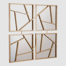 Load image into Gallery viewer, Astratto Geometric Metal Wall Mirror / Gold