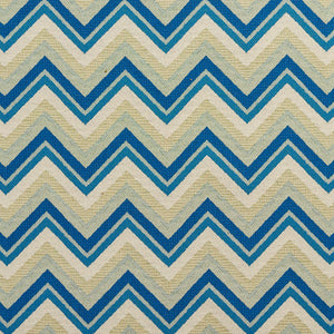 Essentials Outdoor Upholstery Drapery Сhevron Fabric / Blue Beige White