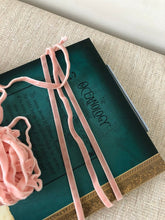 "Load image into Gallery viewer, 3 Yards - 1/4"" (6 mm) Double Faced Velvet Ribbon / Peachy Pink"