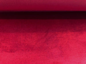 Plush Cherry Red Crimson Upholstery Velvet Fabric for Headboards Chairs / Rouge