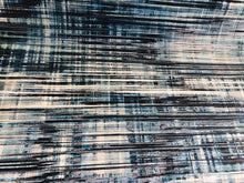 Load image into Gallery viewer, Abstract Off White Navy Blue Gray Velvet Chenille Upholstery Drapery Fabric
