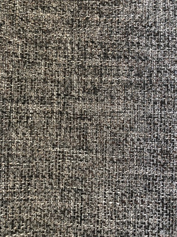 Charcoal Gray Mid Century Upholstery Fabric / Dandy