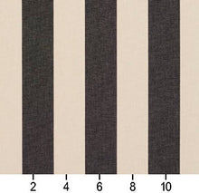 Load image into Gallery viewer, Essentials Indoor Outdoor Charcoal Gray Upholstery Stripe Fabric / Graphite