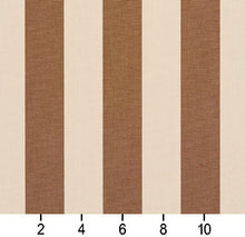 Load image into Gallery viewer, Essentials Indoor Outdoor Tan Upholstery Stripe Fabric / Khaki
