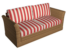 Load image into Gallery viewer, Essentials Outdoor Red Stripe Upholstery Fabric / Poppy