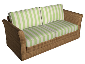 Essentials Outdoor Lime Green Stripe Upholstery Fabric / Spring