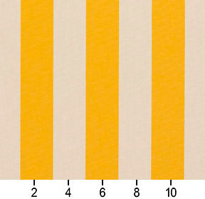 Essentials Outdoor Yellow Stripe Upholstery Fabric / Marigold