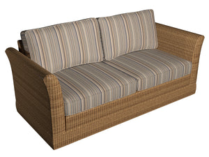 Essentials Indoor Outdoor Brown Beige Gray Charcoal White Tan Stripe Upholstery Fabric / Earth