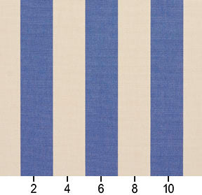 Essentials Outdoor Denim Blue Stripe Upholstery Fabric