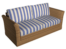 Load image into Gallery viewer, Essentials Outdoor Denim Blue Stripe Upholstery Fabric