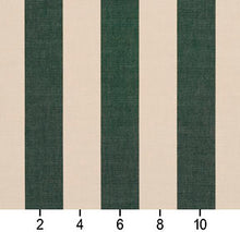 Load image into Gallery viewer, Essentials Indoor Outdoor Hunter Green Stripe Upholstery Fabric