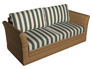 Essentials Indoor Outdoor Hunter Green Stripe Upholstery Fabric