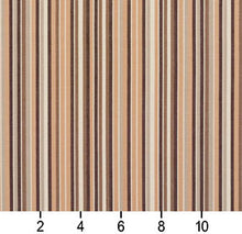 Load image into Gallery viewer, Essentials Indoor Outdoor Brown Beige Stripe Upholstery Fabric / Dune