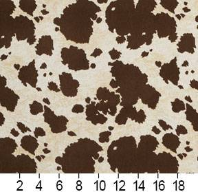 Essentials Performance Stain Resistant Brown Cow Microfiber Upholstery Fabric / Palomino