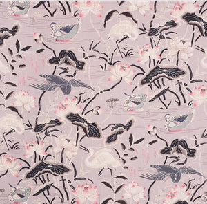 Schumacher Lotus Garden Fabric 172937 / Lilac