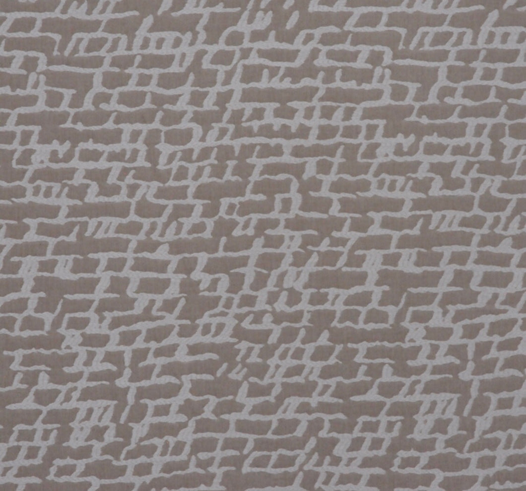 Neutral Beige Cream Off White Abstract Upholstery Drapery Fabric / Linen