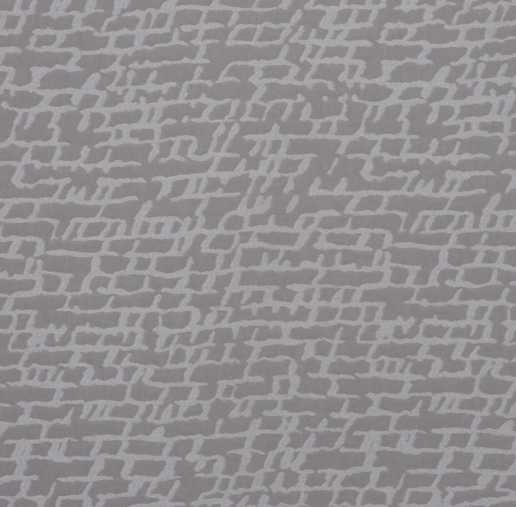 Gray Taupe Cream Off White Abstract Upholstery Drapery Fabric / Fog
