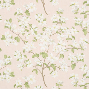 Schumacher Blooming Branch Upholstery Drapery Fabric / Blush