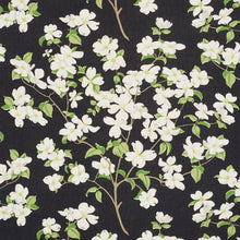 Load image into Gallery viewer, Schumacher Blooming Branch Upholstery Drapery Fabric / Black