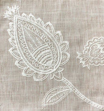 Load image into Gallery viewer, Ansley Park Embroidered Neutral Jacobean Drapery Fabric / Sandstone