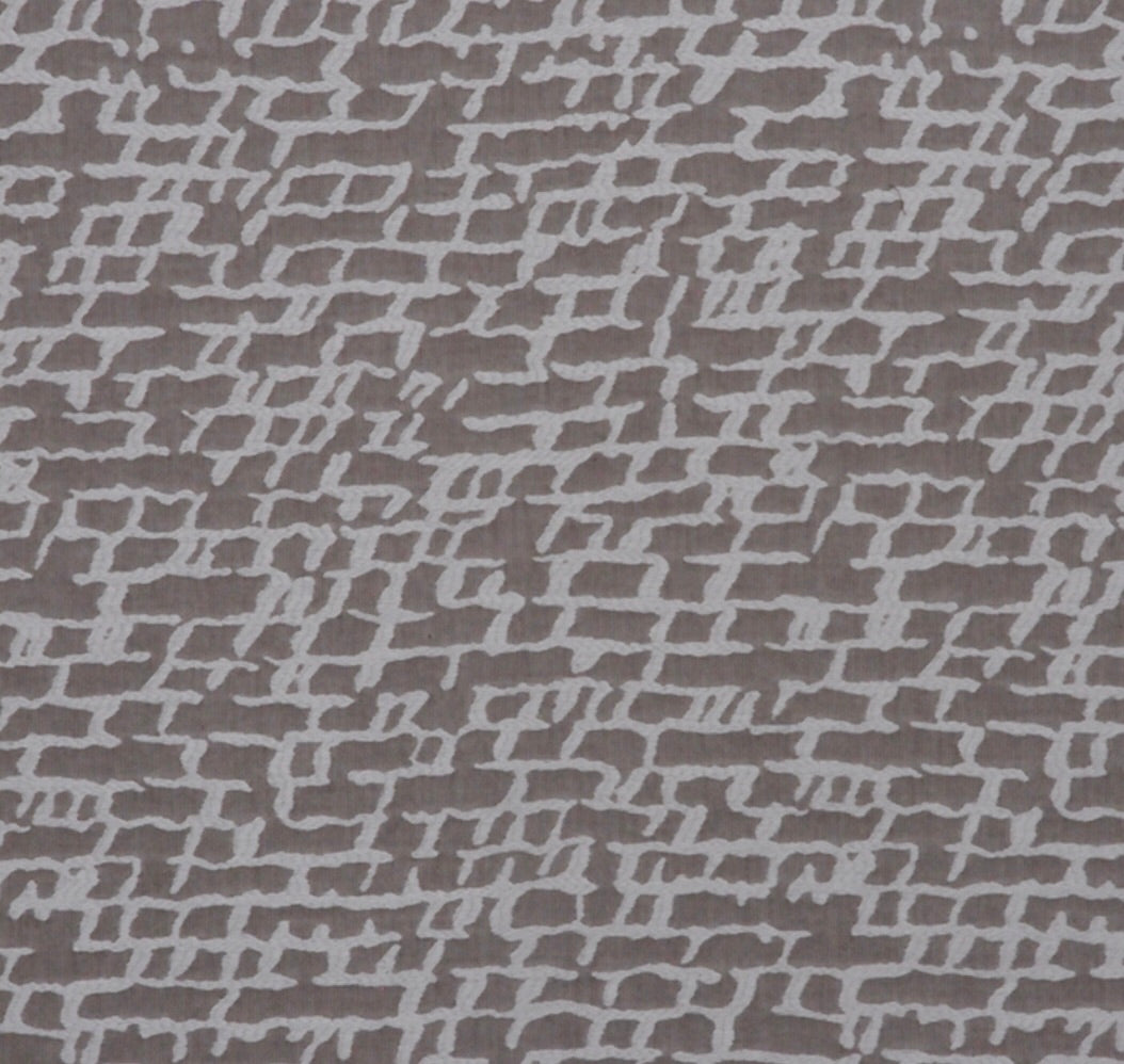 Coffee and Cream Off White Abstract Upholstery Drapery Fabric / Cocoa