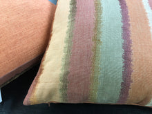 "Load image into Gallery viewer, 19"" x 19"" Handmade Ombre Embroidered Coral Rusty Red Gray Bronze Pillow Cover"
