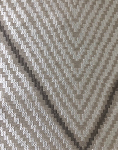 Mystic Diamond Sandstone Beige Geometric Diamond Silk Blend Fabric