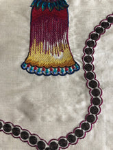 Load image into Gallery viewer, Passementerie Embroidered Silk Blend Tassels Fabric