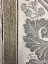 "Load image into Gallery viewer, Vintage Versatile 56"" Cotton Flamestitch beige Chenille stripe pattern tapestry fabric"