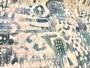 Breakwater Christopher Farr Cloth Kravet Surfwood Lagoon Abstract Velvet Upholstery Drapery Fabric