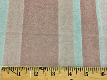 Load image into Gallery viewer, Vintage Velour stripes pattern upholstery fabric in Almond Pink and light grey